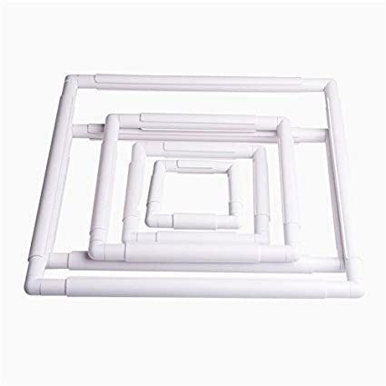 Amazon.com: Plastic Square Rectangular Embroidery Snap Frame Sewing ...