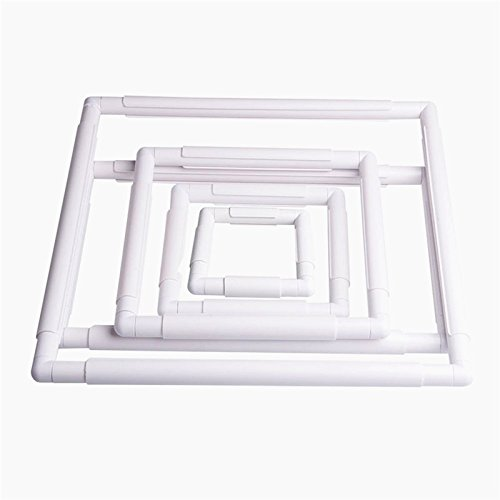 Plastic Square Rectangular Embroidery Snap Frame Sewing Tool For Cross Stitching by yutang