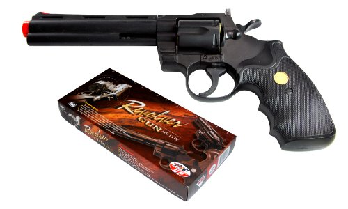 (TSD Sports UA938B 6 inch Spring Powered Airsoft Revolver (Black))
