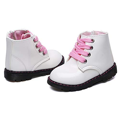 Classic Waterproof Shoes for Girl Toddler Zip White Walking Boots,Toddler 5.5M by Cixi Maxu E-Commerce.Co.Ltd (Image #7)