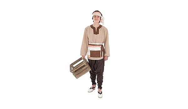 Creaciones Llopis Disfraz de Mercader Medieval para niño: Amazon ...