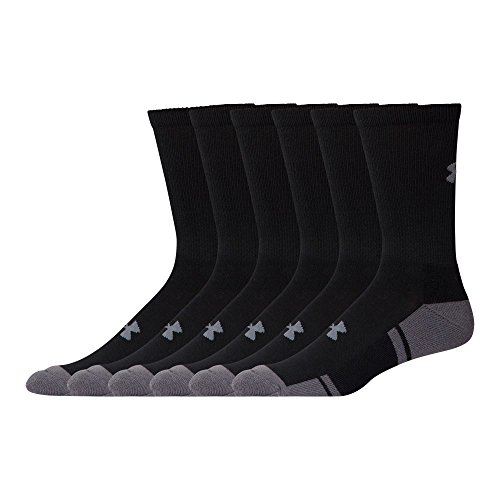 Price comparison product image Under Armour Men's UA Resistor 3.0 Crew 6-Pack Black/Graphite Sock