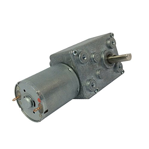 BEMONOC DC 12V 0.6RPM 6mm Shaft Low Speed High Torque Turbine Worm Gear Motor