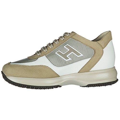 Uomo Nuove Beige Hogan Flock Scarpe h New Pelle Sneakers in Interactive aPFwqC