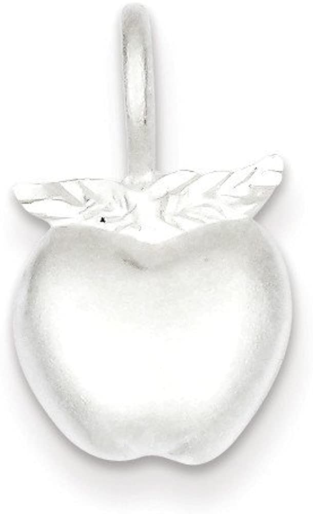 Pendants Career and Profession Charms .925 Sterling Silver Apple Charm Pendant