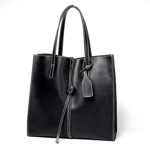 Pratica Pelle Semplice Per Donne Donna Black Grande Le Olprkgdg Portatile In Da Borsa Black color aEwUBqxX