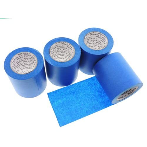 """1 Roll 5"""" inch WIDE 3D Printing Made In USA PRO Grade Blue Painters Tape Masking Clean Release Easy Removal NO RESIDUE (120MM x 55M 4.7 inch). 3D Printer bed grip deck cover 3D Prints Removal 60 Yd"""