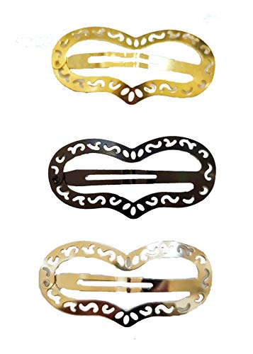 Sophi Large Heart Snap Hair Clips Barrettes For Women (115051_heart) - Heart Snap Clip