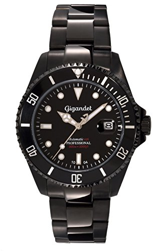 Gigandet Men's Automatic Pro Diver Watch Sea Ground Analog Stainless Steel 30atm Black G2-003