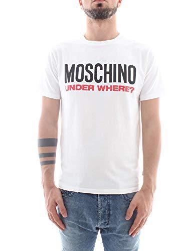 8102 Blanc MOSCHINO Shirt A1913 Homme Underwear T gwxn6q1A
