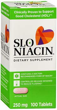 Slo-Niacin 250 mg, Polygel Controlled Release Tablets - 100ct, Pack of 3