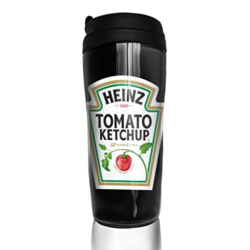 Reusable Coffee Mug, Heinz Tomato Ketchup, Milk Tea Drinking Water Bottle Coffee Mug Coffee Tumbler for Kids Teens Adults