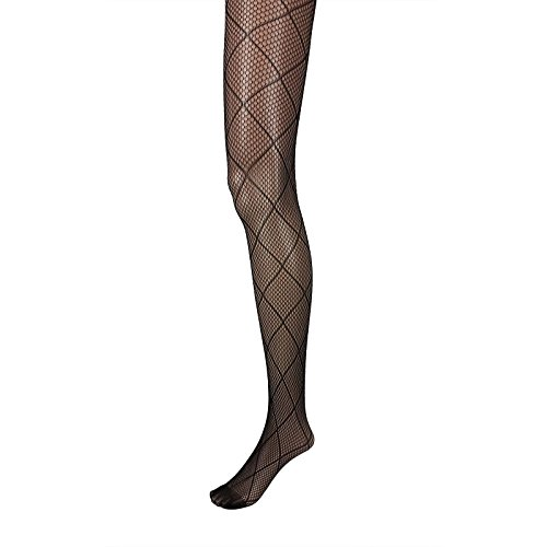 Diamond Patterned Tights - Adorox Black Net Lace Unique Pattern Fishnet Stockings Pantyhose Tights Hosiery (Diamond)