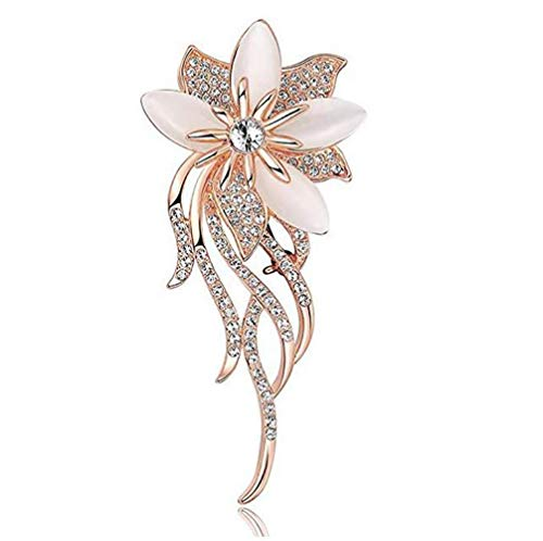 Brooch Rose Gold (Daisy Jewelry Womens Cheap Elegant Flower Floral Bridal Wedding Bouquet Brooches Brooch Pin)