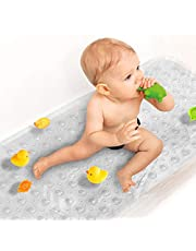 SHEEPPING Upgrade Baby Bath Mat Non Slip Extra Long Bathtub Mat for Kids 40 X 16 Inch - Eco Friendly Bath Tub Mat with 200 Big Suction Cups,Machine Washable Shower Mat