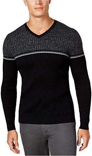 Alfani Mens Striped V-Neck Pullover Sweater / Alfani Mens Striped V-Neck Pullover Sweater