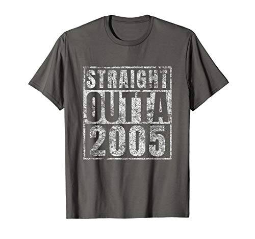 Straight Outta 2005 14th Birthday Gift 14 Year Old T-Shirt]()