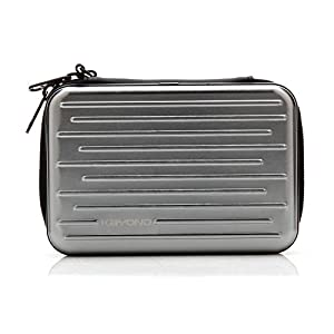 """KAYOND Anti-shock Silver Aluminium Carry Travel Protective Storage Case Bag for 2.5"""" Inch Portable External Hard Drive HDD USB 2.0/3.0 (Silvery white)"""
