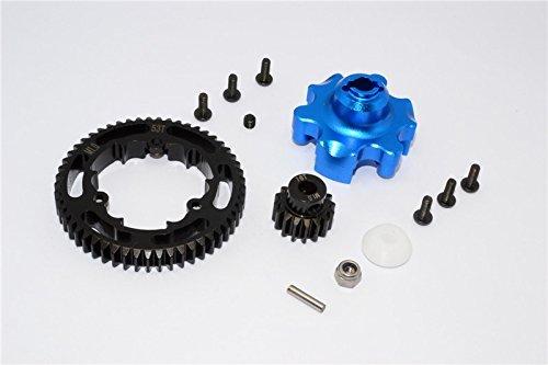 G.P.M. Traxxas X-Maxx 4X4 Tuning Teile Teile Teile Aluminium Gear Adapter + Steel Spur Gear 53T + Motor Gear 16T (For X-Maxx 6S Only) - 1 Set Blau ca0efd