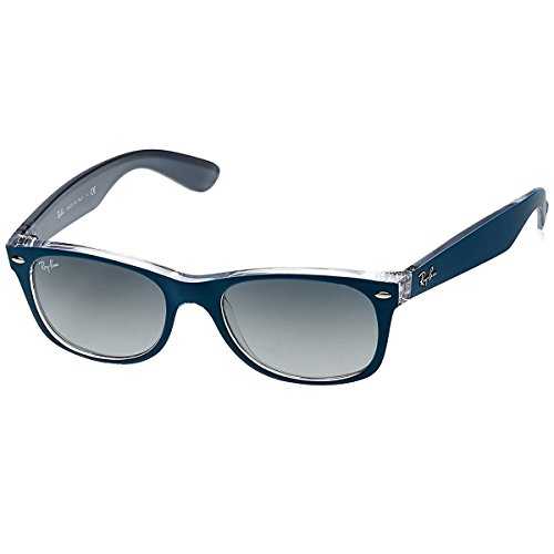 Ray-Ban NEW WAYFARER - TOP MT PETROLEUM ON GREY Frame LIGHT GREY GRADIENT DARK GREY Lenses 52mm - Ban Wayfarer Grey Ray Gradient