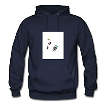 X-large Different Women Sweatshirts Cherry Love Hearts By Sarahdiaz Navy