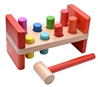 Wooden Hammer and Pegs Educational Resource Toy