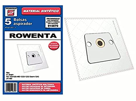 Synthetic Vacuum cleaner bag Rowenta Neo Pack Of 5 915670 ...