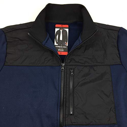 (Kenneth Cole Men's Full Zip Jacket, Variety (L, Indigo))