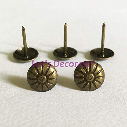 Ochoos Free DHL Shipping 30000pcs/lot 11mm Antique Brass Plated Thin Daisy Flower Decorative Tack, Hobnail, Upholstery Nail, Drum Nails