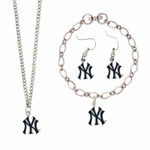 MLB New York Yankees Silver NY Logo Jewelry Set