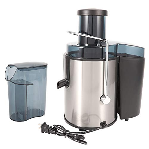 Juice Extractor, Juicer Machines Stainless Steel Centrifugal Juice Extractor with Two Speed Modes, Large Diameter Feeding Tube for Fruit Vegetable, 400W 110V US