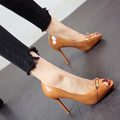 ed FLYRCX b singola belle di estate pesce bocca stagione poco Moda scarpe tacchi bocca di profondo temperamento donna europea calzatura primavera scarpe partito vxraB0vw