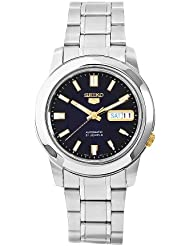Seiko Mens SNKK11 5 Stainless Steel Blue Dial Watch