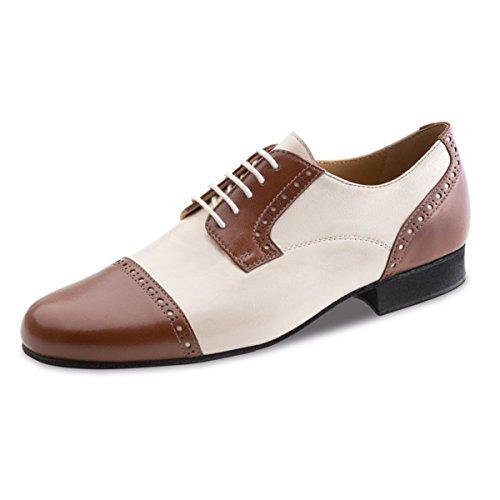 Werner Kern–Zapatillas de danza para hombre 28051piel [normal] marrón/beige