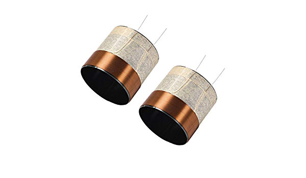 uxcell 2pcs 51.5mm 2 inches Woofer Voice Coil 2 Layers Round Copper Wire for Bass Speaker Audio Repair