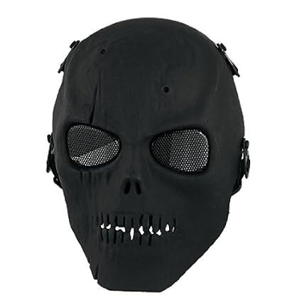 eDealMax Negro Adulto de alambre de Metal de Malla Ojos Espuma máscara de nariz acolchada Puente