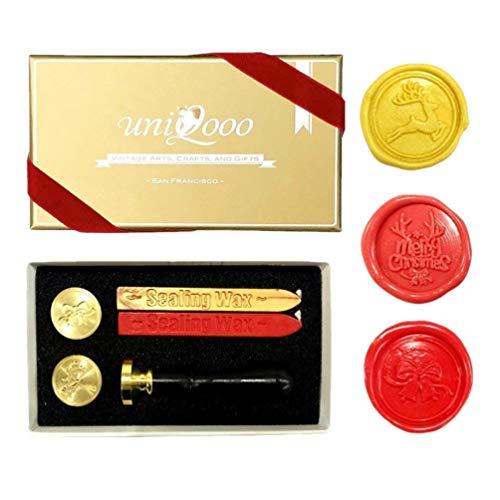 UNIQOOO Arts & Crafts Christmas Wax Seal Stamp