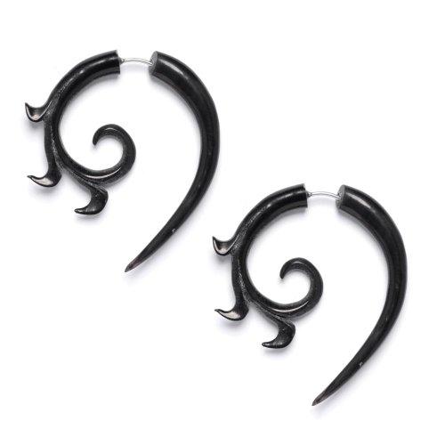 Horn Plugs Gauge Bone Earring - 9