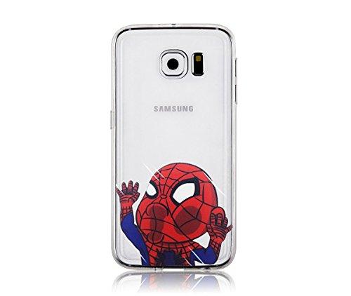 Spiderman Galaxy S6 Case, Popjoy® - Light, flexibile, clear TPU case w/ premium designs