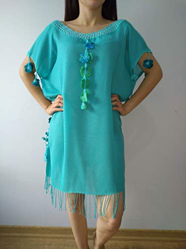 light blue dress Coton dress Handmade handcraft tunic,dresses maxi,midi and mini with different colours embroidered bohemian dress by softdresshandmade