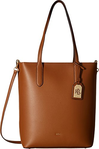 LAUREN Ralph Lauren Women's Dryden Alexis Tote Field Brown/Monarch Orange One - Brown Ralph Lauren Bag