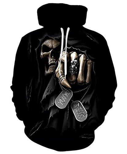 GGmar Men's Clothing Skull Punisher Grim Reaper Printed