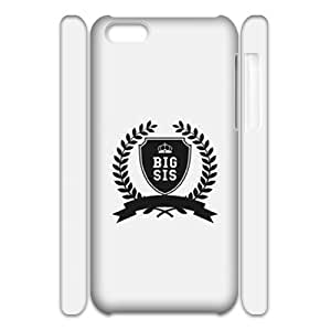 GTROCG BIG SIS LIL SIS World?¡¥s BFF Matching Dangerously Best Friend Phone 3D Case For Iphone 5C [Pattern-1]