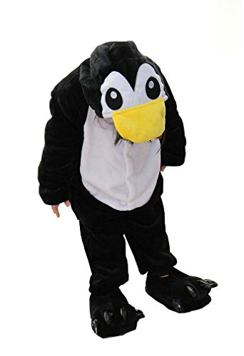 Cosplay Halloween Unisex Childrens' Costume Cute Party Animal Pajamas One-Piece The Penguin (Penguin Flannel Pajamas)