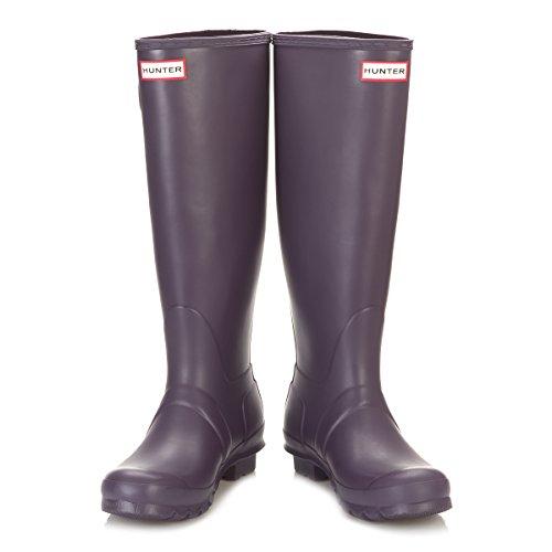Womens Hunter Original Tall Wellington wasserdichte Winter Schnee Regen Stiefel Lila