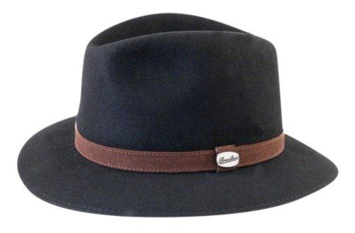 c67ab7db11a87 Borsalino Traveler Fur Felt Fedora Black 7 at Amazon Men s Clothing ...