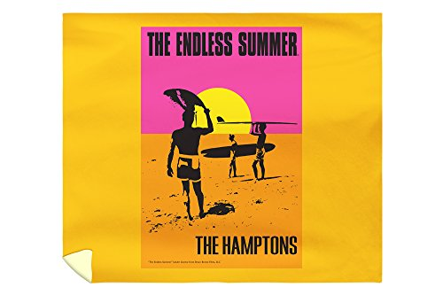 - Lantern Press The Hamptons, New York - The Endless Summer - Original Movie Poster 52054 (88x104 King Microfiber Duvet Cover)