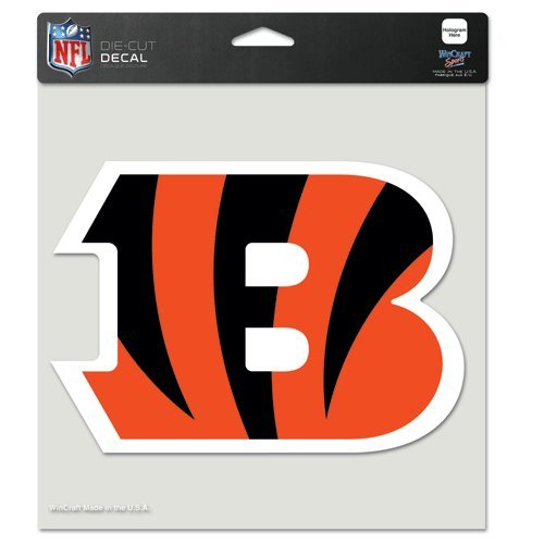 Cincinnati Bengals 8x8 Full Color Die Cut Decal - Card Bengals
