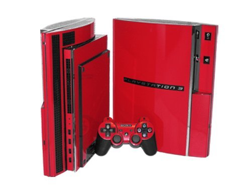 Sony PlayStation 3 Skin (PS3) - NEW - ROCKIN RED system skins faceplate decal mod