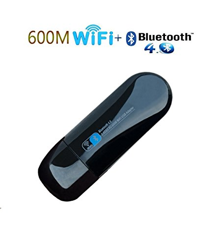 Wireless Wifi Bluetooth Adapter, USB Wifi Network Adapter AC 600 Dual Band with Internal Antenna for Desktop/Laptop/PC, Supports Windows 7/8/8.1/10/XP/Vista (Wlan Adapter)
